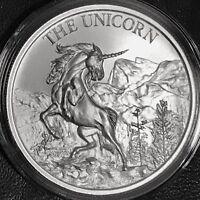 2018 THE UNICORN 1 oz .999 Fine Silver High Relief Folklore Horse Mountain