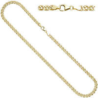 4,8mm Zwillings-Panzerkette Halskette Collier 333 Gelbgold Gold 45cm, Goldkette