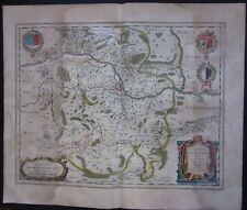 1640 TERRITURIUM METENSE PAYS MESSIN map Abraham Fabert Blaeu Metz Thionville