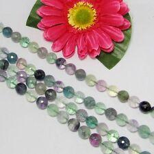 Strang Fluorit 10mm kugeln micro facettiert Lose Perlen