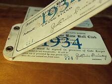 1934 Yankees WhSox Ticket Babe Ruth FINAL Season HR #702 Lou Gehrig Triple Crown