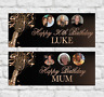 Personalised Birthday Banner 18th/21st/30th/40th/50th Party Decoration Rose Gold