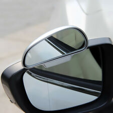 Car Wide Angle Adjust Convex Blind Spot Side Mirror Extension Accessories Silver