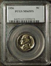 1956-P  Jefferson Nickel - PCGS MS65FS Full Steps  #9674