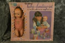 Vintage 1972 Amsco Gerber Baby Doll & Feeding Set No 6006 W/ Free Shipping