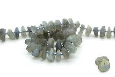 Natural Labradorite Raw Chips Nuggets Rough Cut Irregular Shape Gemstone Beads