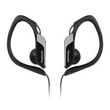 Panasonic RP-HS34E Black Clip-On Sports Hook-On In-Ear Earphones Headphones New