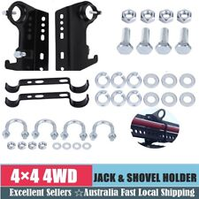High Lift Jack and Shovel Holder 4x4 Farm Mount/Holder Roof Rack Universal Black