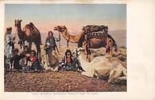 1904 St Louis World'S Fair Souvenir Pc, Arab Men With Their Camels