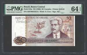 Brazil 50 Cruzados ND (1986) P210a Uncirculated Grade 64