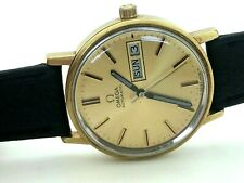 1976 Omega Automatic Gold Filled Steel Original Dial 35mm Cal 1022 Day Date RUNS