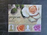 2013 HUNGARY PERSONALISED GREETING STAMPS ROSES PAIR OF STAMPS MINT MNH