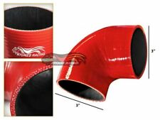 """3"""" Silicone Hose/Intercooler Pipe Elbow Coupler RED For Lexus/Mini/Saab"""