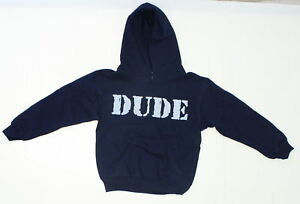nEW Gildan Youth Graphic Funny Hooded Sweatshirt Navy Small 02575