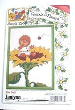 "Suzy's Zoo 1997 Retired Cross Stitch Kit - Friends & Flowers 5 x 7"" Emily Marmot"