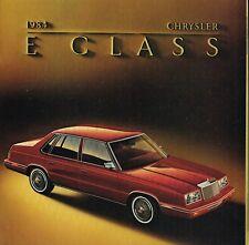 1984 CHRYSLER CLASE E Catálogo / CATALOG con tabla de colores: turbo ,