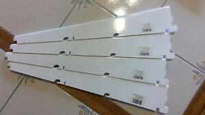 LOT of 4 White 16 inch  Elfa Shelf Bracket