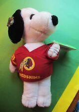 "Snoopy Plush, NFL, Redskins Football Team, Mint w. Original Tags, VERY RARE, 13"""