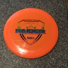 Dynamic Disc Fuzion Raider 174g. Has Ink. Orange w/Rainbow Stamp