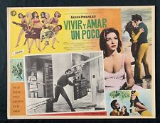 ELVIS PRESLEY Live A Little Love A Little LOBBY CARD MEXICAN Vintage 1968