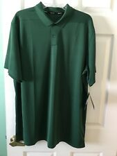 NWT New Nike Golf Logo Dri-Fit Mens Size XL Green Short Sleeve Polo Shirt