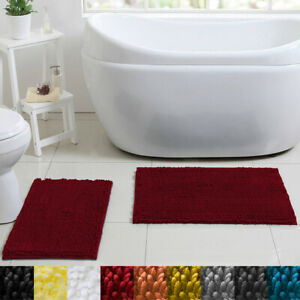 Butter Chenille Noodle 2 Piece Bathroom Rug Set