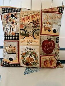 Autumn, Hello Fall  Throw Pillow Cover
