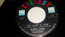 "GLORIA LYNNE He Needs Me / The Lamp Is Low EVEREST 19409 R&B 45 7"" VINYL"