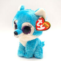 """6"""" TY Beanie Boo's Great Wolf Lodge Exclusive Glitter Eyes Blue Jade Plush Toys"""