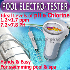 PH Cloro CL2 Medidor de nivel de agua de la piscina Spa Quality Test Nueva