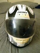 FULMER AF-300 white & black Motorcycle Helmet DOT Approved Full Face
