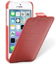Melkco Premium Leather Case for Apple iPhone 5c-Jacka Crocodile Print RED H16061