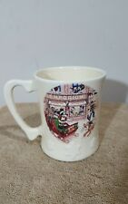 New listing Disney Coffee Mug Cup Christmas Sled Mickey Mouse Pluto Donald Goofy Ceramic