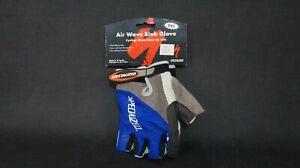 NOS Vintage Specialized Men's air Blob Blue Fingerless Gel MTB Gloves Large. NEW