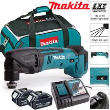 Makita DTM50Z 18V Oscilante Multiherramienta Con 2 X 5Ah BL1850, DC18RC y LXT400 Bolsa