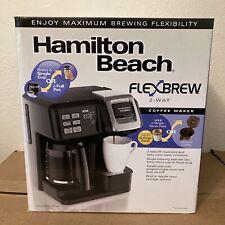 Hamilton Beach Coffee Maker Flex Brew 2 Way Single Serve Pack Or Full Pot NEW