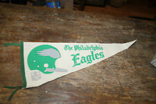 Nfl Philadelphia Eagles Vintage 1960's Single Bar Helmet Style Football Pennant