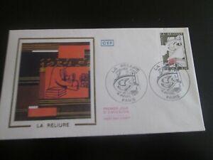 enveloppe premier jour 1981 la reliure