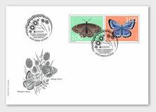 Switzerland 2021 EUROPA butterfly papillon Schmetterling mariposa 2v pair FDC