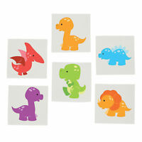 DINOSAUR PARTY Little Dino Temporary Tattoos Favour Pack of 36 Tattoo Free Post