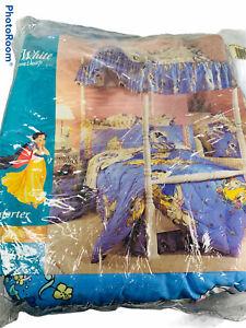 🔥Vintage Disney Snow White Twin Size Comforter Blanket Reversible • New • Rare