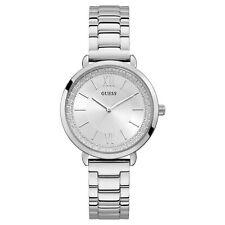 Guess Women's Posh Silver Tone Stainless Steel Quartz Watch W1231L1