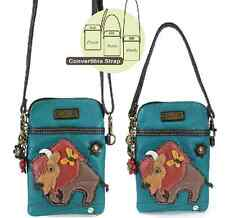 Charming Chala Butterfly and Buffalo Cell Phone Purse Mini Crossbody Bag