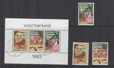 NETHERLANDS ANTILLES, 1983 Child Welfare set of 3 & Souvenir Sheet, used.