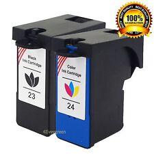 2Pack #23 #24 Ink Set For Lexmark X3430 X3530 X3550 X4360 X6440 X6352 X3256