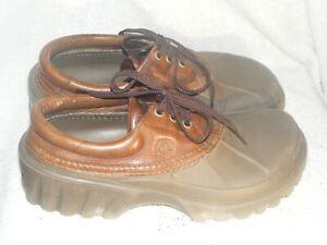 Men's/Women' Leather & Crocs Shoes by Crocs- Worn a Few Times - Sz M 8 / Wo's 10