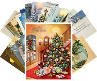 Postcards Pack [24 cards] Vintage Christmas Winter Landscape Scenary Tree CE5017