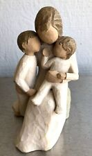 "Willow Tree Figurine ""Quietly"" C2002 Susan Lordi Mother w/Sons ~Excellent Cond~"