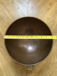 Solid Copper Whipping Mixing Bowl 26cm