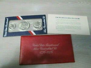 1976 US Mint Bicentennial Uncirculated 3pc Silver Set
